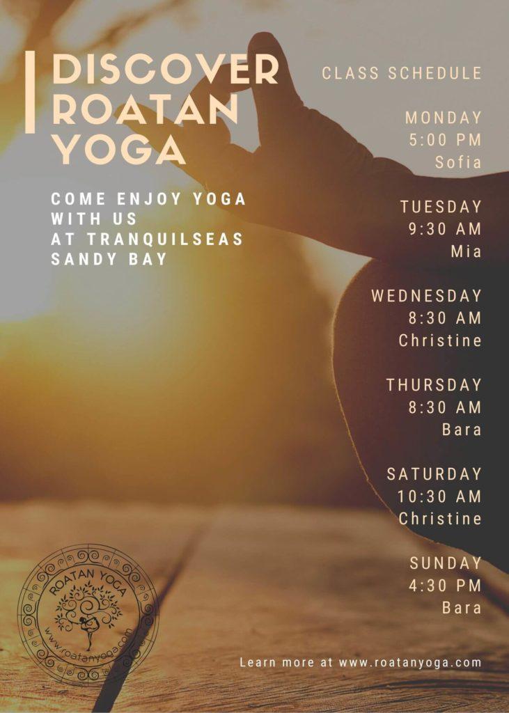 Yoga Roatan Schedule 2020